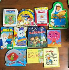 Lot 11 Kids Christian Bible Jesus Board Books Noah's Ark