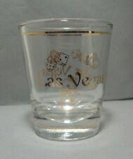 Souvenir Shotglass from Las Vegas, Nevada with Gold Trim & Accents