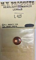 "M.V. Products Headlight & Marker Lenses #L 413 Scale 24"" Clear/Amber Lens"