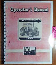 Massey Ferguson Mf 3505 3525 3545 Tractor Owner Operator Manual 1449 077 M2 384