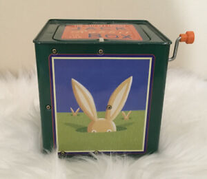 Vintage 1995 The Nature Company Jack Rabbit in the Box Works Pop Goes The Weas