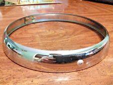 """DomiRacer Replica Lucas 7"""" Chrome Headlamp Rim Bezel Door 553248 Has Sharp Edge"""