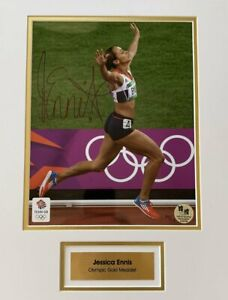 Jessica Ennis Mounted Hand Signed Olympic London 2012 Autograph Photograph Print