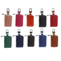 Leather Car Key Protector Cover Holder Key Fob Case Bag Universal For Cars