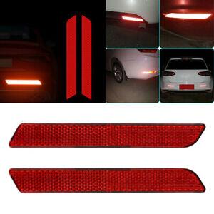 2x Car Reflective Warning Strip Tape Bumper Truck Safety Reflector Sticker Decal