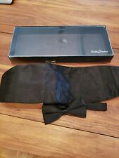 Vicky Davis Black Formal Cummerbund Set