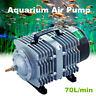 70L/m Electromagnetic Air Compressor Aquarium Oxygen Fish Pond Air Pump