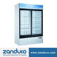 Zanduco 54 2 Door Sliding Glass Cooler 45 Cu Ft