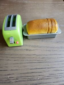 """American Girl 18"""" Doll Gourmet Kitchen Toaster Bread Loaf Pan Toast"""