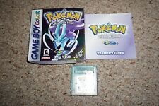Pokemon Crystal (Nintendo Gameboy) Complete in Box GOOD Game Boy