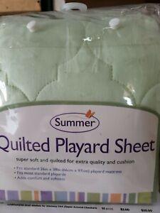Summer Quilted Playard Sheet