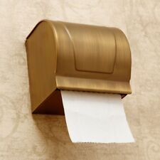 Bath Antique Brass Wall Mount Toilet Paper Roll Holder Storage & Covers eba303
