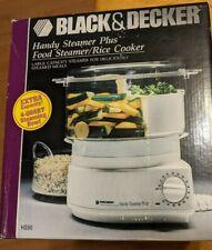 Black & Decker Handy Steamer Plus Hs 90 New Open Box Rice Cooker Food Steamer