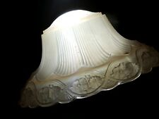 Antique pink glass rare art deco light fixture 3 chain ceiling chandelier Glass