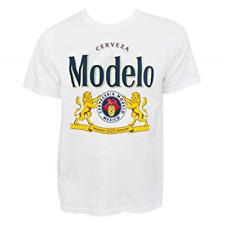 Modelo Cerveza Graphic Logo Tee Shirt, White, HD - Heavy Duty, PreShrunk Beer XL