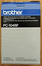 Genuine Brother cartridge PC-101 + PC-104RF Cartridge Refills 3-Rolls/Box
