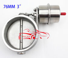STAINLESS STEEL 3''76MM BOOST ACTUATE ENGINE ROAR SOUND PLAY EXHAUST BYBASS GATE