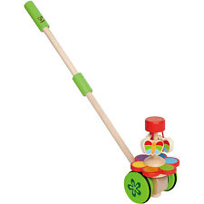 Hape Dancing Rolling Push/Pull Baby Toy for Ages 12 Months and Up (Open Box)