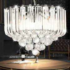 Luxus LED Kron Leuchter Lüster klar Chrom Decken Pendel Leuchte Kristall Lampe
