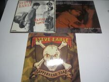 3x STEVE EARLE Copperhead Road THE HARD WAY Guitar Town