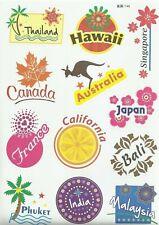"""Sticker Decal Sticker Set """" Reise-Mix """" - Suitcase, Laptop, Stickerbomb (B)"""