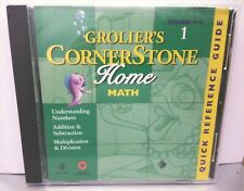 Grolier's Cornerstone Home Math Numbers Add/Subtract/Multiply/Div Grades 3-4 Cd