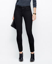 Ann Taylor - Size 10 Black Skinny Curvy Fit Low Rise Jeans $89.00 (D31)