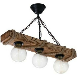 Solid Pine Tree Chandelier Rustic Aged Wood Ceiling Pendant Light Vintage Retro
