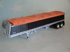DCP BLACK SIDED COMMANDER ORANGE TARP HOPPER GRAIN TRAILER 1/64 DIECAST 34112 T