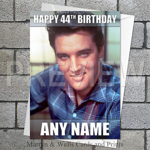 Elvis Presley personalised birthday card. 5x7 inches. 1950s.