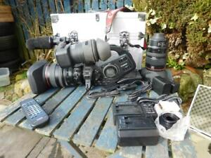 Used Canon XLH1 HD with 2 lenses and accessories all in good order