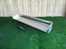 500mm Stainless Steel Waterfall WATER BLADE Cascade Koi Fish Pond BOTTOM INLET