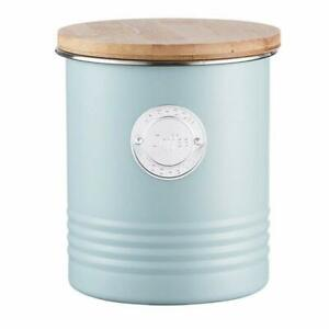 Typhoon Living Airtight Storage Canister / Bamboo Lid COFFEE BLUE [1854H] EOL