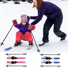 69CM Kids Skis and Poles Set Beginner Snowboard Winnter Sports Gifts W/ Bindings
