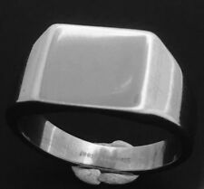 Unbranded Stainless Steel Signet Fashion Rings