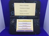 Nintendo 3DS XL Handheld Console Game System - Black Blue Hexagons Decal Design