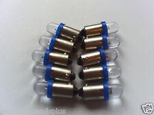 100 Pinball 6.3 Volt LED Blue Round Replacement Bulbs 44/47 Bayonet Base BA9S
