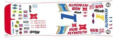 #1 Norm Nelson - Roger McCluskey Plymouth Superbird 1/43rd Scale Slot Car Decals