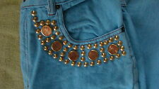 VINTAGE LEXICCO - JEANS WITH REAL PENNIES - SZ 9/10.