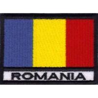 [Patch] BANDIERA ROMANIA cm 7 x 5 toppa ricamata ricamo ROMANIA -008