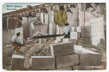 Stone Quarry Bermuda 1910c postcard