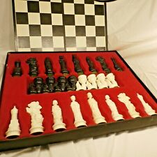 Vintage Complete Renaissance Chessmen by E.S. Lowe Chess Board Game in Box