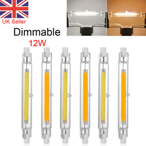Dimmable 118mm R7s COB LED Bulbs Security Flood Replaces Halogen Bulb 12W