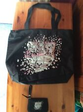 Girls Tammy Black leopard cheetah bag and purse
