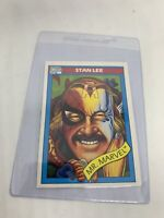 1990 Marvel Universe Series 1 Impel Trading Cards #161 Stan Lee Card