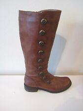 Miz Mooz Light Brown Faux Victorian Button Style Knee High Riding Boots 8.5