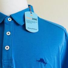 NWT TOMMY BAHAMA Mens Blue TROPICOOL ISLANDZONE SPECTATOR Polo Shirt Sz Large