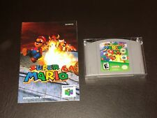 Super Mario 64 w/Manual & Case Nintendo 64 N64 Cleaned & Tested