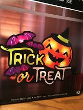 NEW Impact Lighted Halloween TRICK OR TREAT PUMPKIN Shimmering Window Decoration
