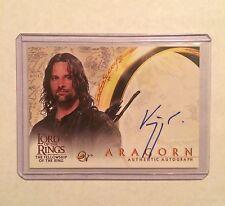 VIGGO MORTENSEN Auto - Lord of the Rings FOTR - Autograph Card - signed LOTR